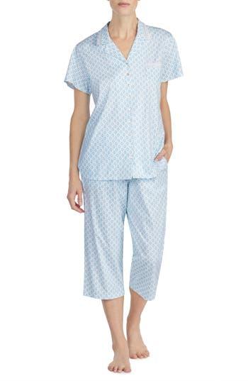 Eileen West Cotton Crop Pajamas, Blue
