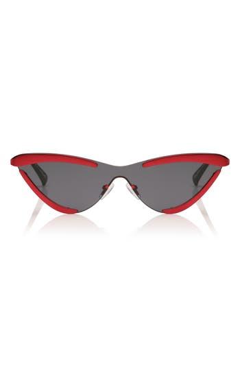 Adam Selman X Le Specs The Scandal 142Mm Cat Eye Sunglasses - Metallic Red