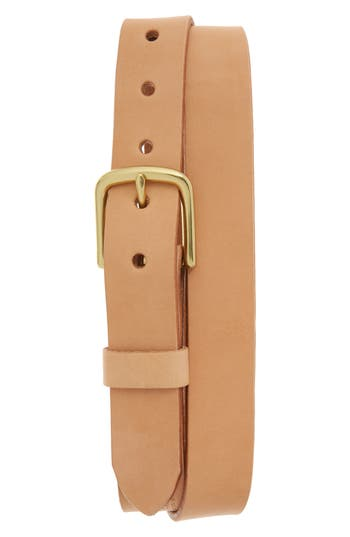 Tanner Goods Classic Leather Belt, Natural/ Brass