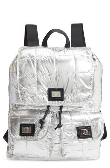 Nyc Underground Puffer Backpack - Metallic