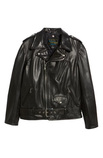 50s Men's Jackets| Greaser Jackets, Leather, Bomber, Gaberdine Mens Schott Nyc 50S Perfecto Oil Tanned Cowhide Leather Moto Jacket Size XX-Large - Black $880.00 AT vintagedancer.com