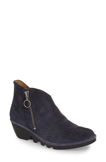 Fly London Poro Wedge Bootie - Blue