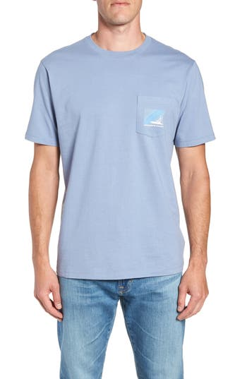 Vineyard Vines Sportfisher Regular Fit Pocket Tee, Grey