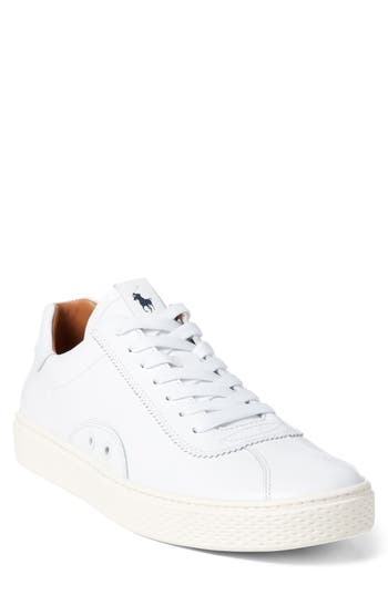 Court 100 Luxe Leather Sneakers in White