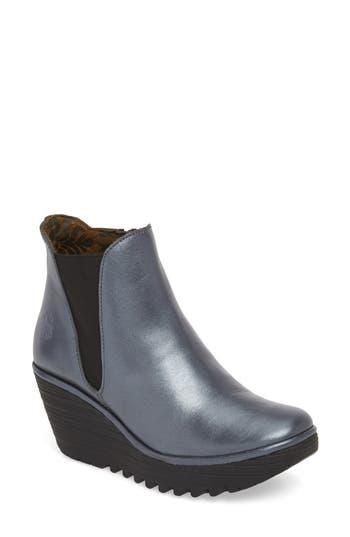 Fly London Yozo Wedge Boot-6- Grey