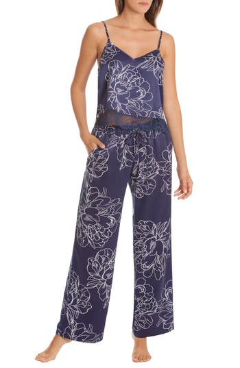 In Bloom By Jonquil Etched Flowers Pajamas, Blue