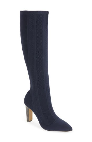 Charles By Charles David Davis Knit Boot, Blue
