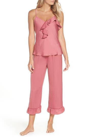 Josie Satin Pajamas, Coral
