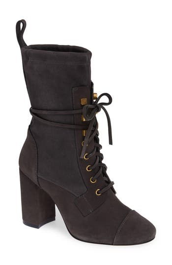 Stuart Weitzman Veruka Lace-Up Boot, Black