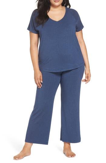 Plus Size Nordstrom Lingerie Breathe Pajamas, Blue