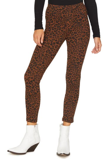 Sanctuary Grease Leopard Print Leggings, Brown