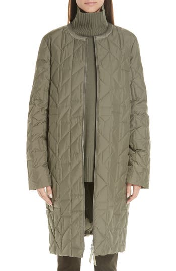 Lafayette 148 New York Callahan Quilted Coat, Green