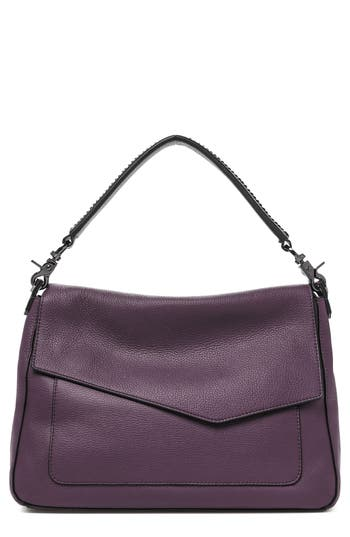Cobble Hill Slouch Calfskin Leather Hobo - Purple, Winter Purple