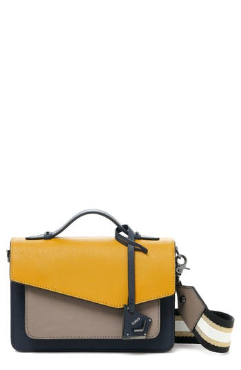 Cobble Hill Calfskin Leather Crossbody Bag - Yellow, Gold