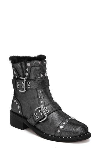 Sam Edelman Drea Stud Moto Boot, Grey