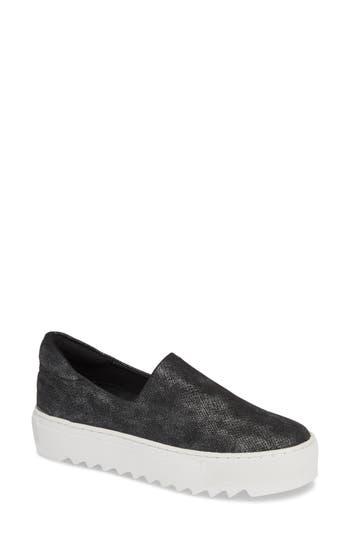 Jslides Sage Platform Slip-On Sneaker, Metallic