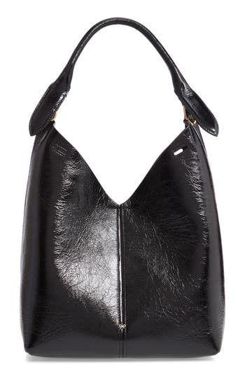 ANYA HINDMARCH Build A Bag Small Patent Leather Base Bag - Black