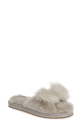 Ugg Mirabelle Genuine Shearling Slide Slipper, Grey