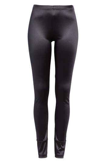 Junya Watanabe Stretch Satin Leggings, Black