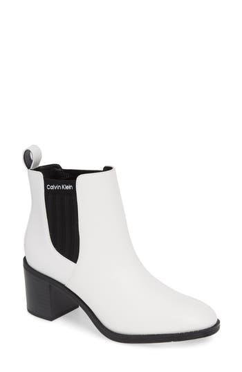 Calvin Klein Perron Chelsea Bootie, White