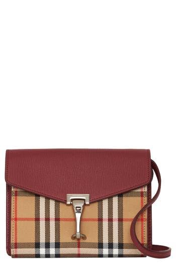 Burberry Baby Macken Vintage Check Crossbody Bag - Burgundy