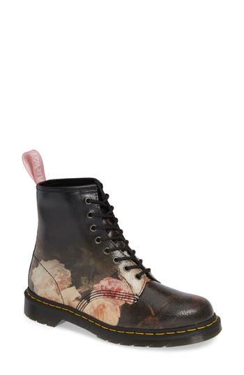 Dr. Martens 1460 Power Floral Leather Boot, Black