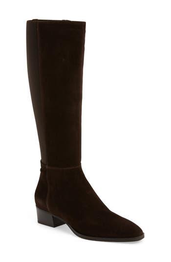 Aquatalia Finola Weatherproof Stretch Back Boot, Brown