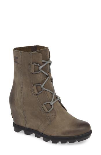 Sorel Joan Of Arctic Ii Waterproof Wedge Boot, Grey