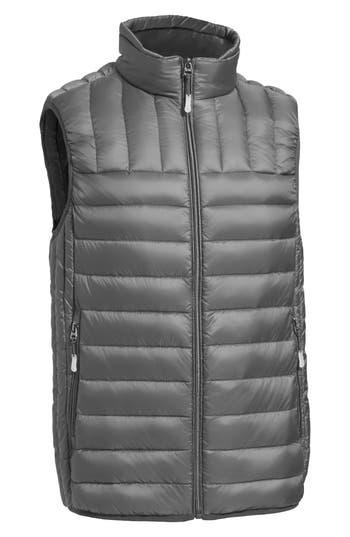 Tumi Packable Down Vest, Grey