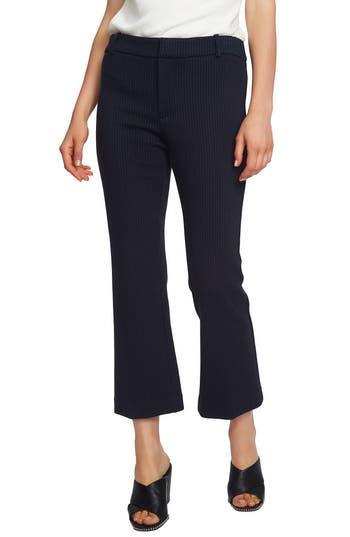1.state Mini Kick Flare Pinstripe Pants, Blue