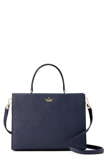 Cameron Street - Sarah Leather Satchel - Blue, Blazer Blue/ Tusk/ Black