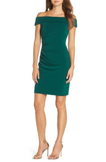Vince Camuto Off The Shoulder Sheath Dress, Green