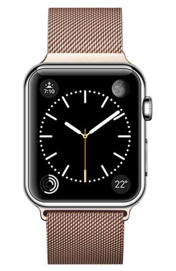 Stainless Steel Mesh Apple Watch Strap, Gold