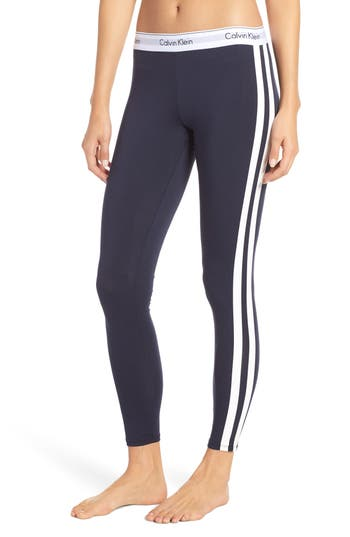Calvin Klein Stripe Lounge Leggings, Blue