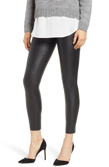 David Lerner The Bergen Faux Leather Leggings, Black