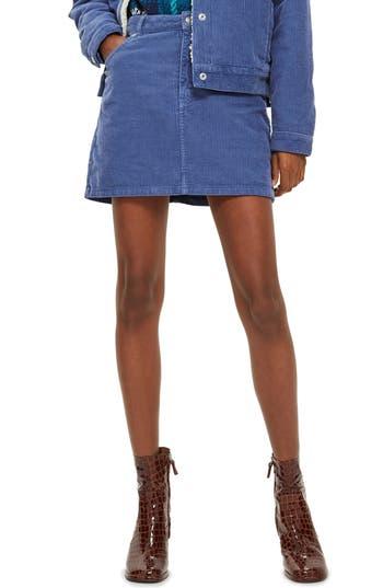 Topshop Corduroy Skirt, US (fits like 0) - Blue