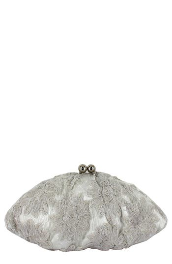 Menbur 'White Flower' Clutch - White