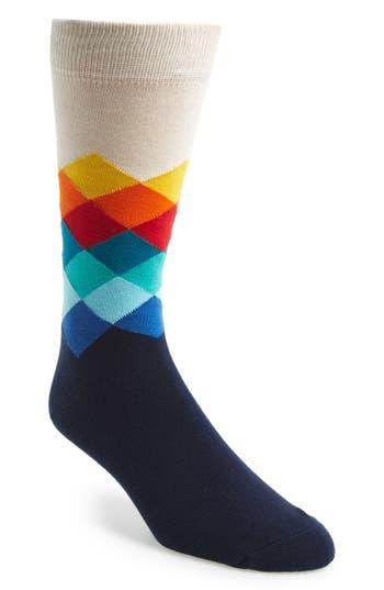 Men's Happy Socks Faded Diamond Socks