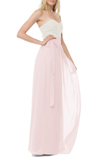 Women's Ceremony By Joanna August 'Whitney' Chiffon Wrap Maxi Skirt