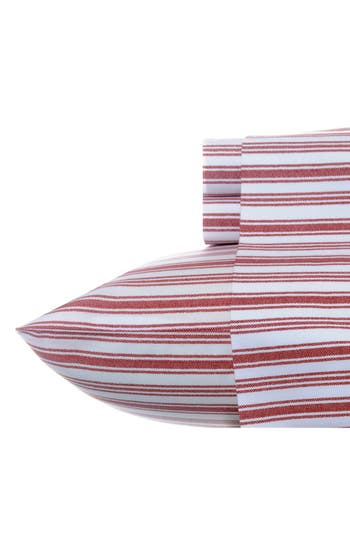 Nautica 'Coleridge' Cotton Sheet Set, Size King - Red