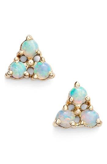 Women's Wwake Triangle Opal Earrings