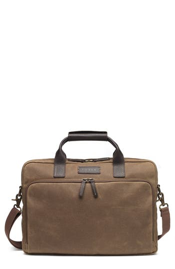 Trask 'Bridger Trail' Waxed Canvas Tote - Beige