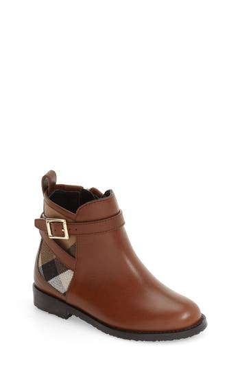 Toddler Girl's Burberry 'Mini Richardson' Leather Boot