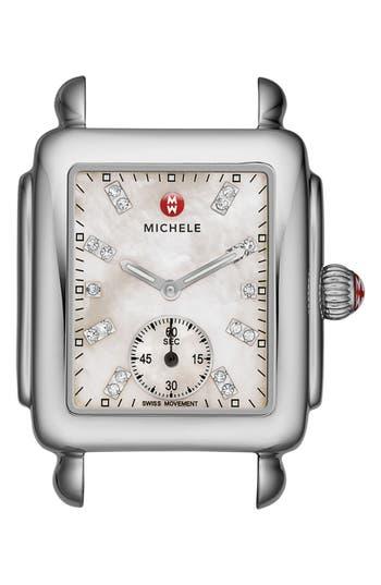 Women's Michele Deco 16 Diamond Dial Watch Head, 29Mm X 31Mm