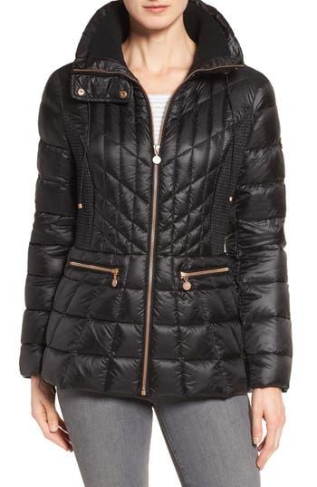 Bernardo Packable Jacket With Down & Primaloft Fill, Black