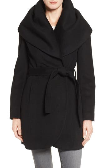 Women's T Tahari Wool Blend Belted Wrap Coat