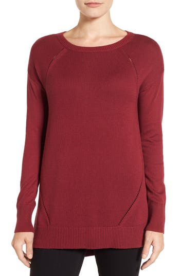 Women's Caslon Button Back Tunic Sweater