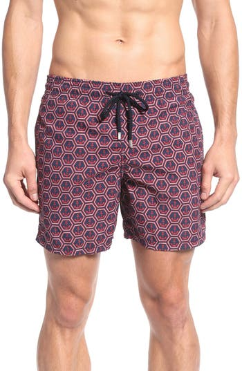 Men's Vilebrequin Anchor Print Swim Trunks