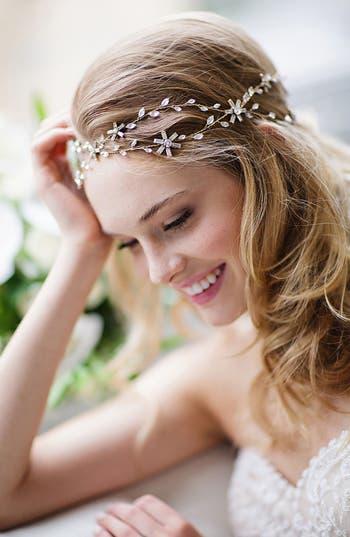 Brides & Hairpins 'Eula' Crystal Halo & Sash