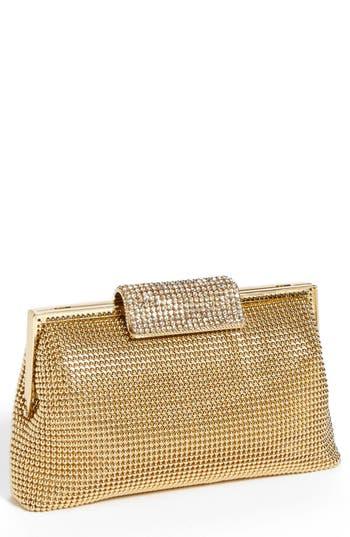 Retro Handbags, Purses, Wallets, Bags Whiting  Davis Crystal Frame Clutch - Metallic $255.00 AT vintagedancer.com